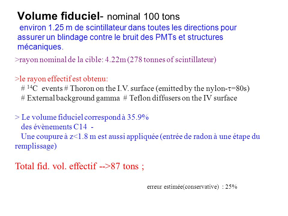 Volume fiduciel- nominal 100 tons environ 1