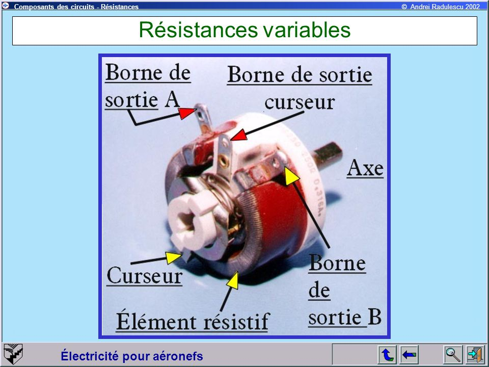 Résistances variables