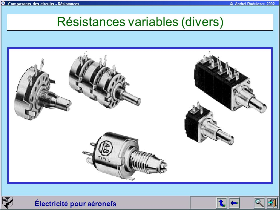 Résistances variables (divers)