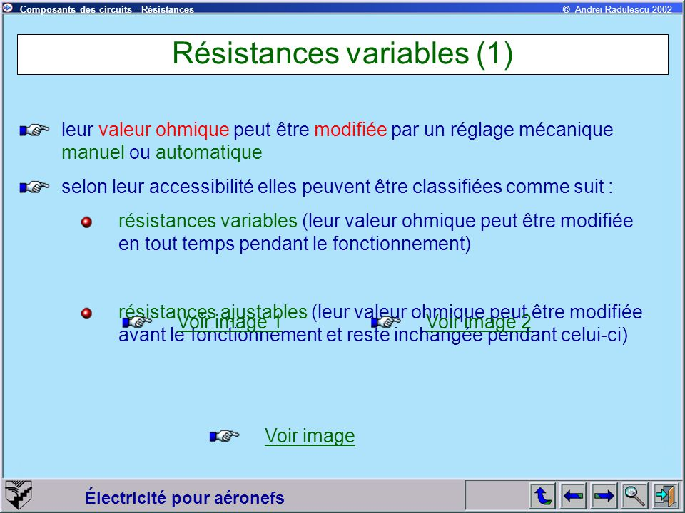 Résistances variables (1)