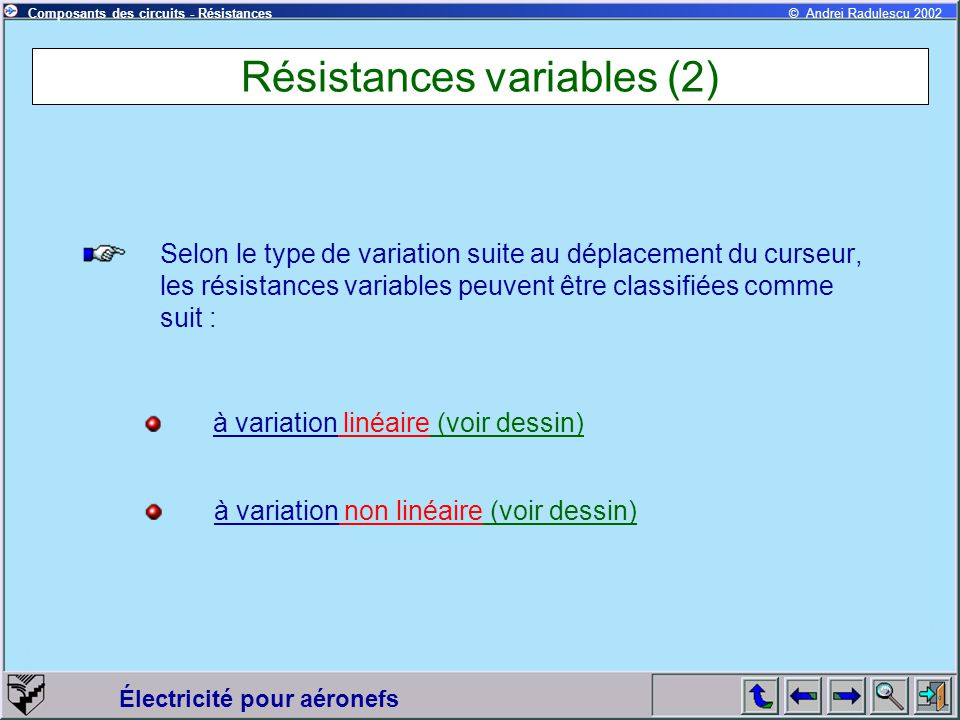 Résistances variables (2)