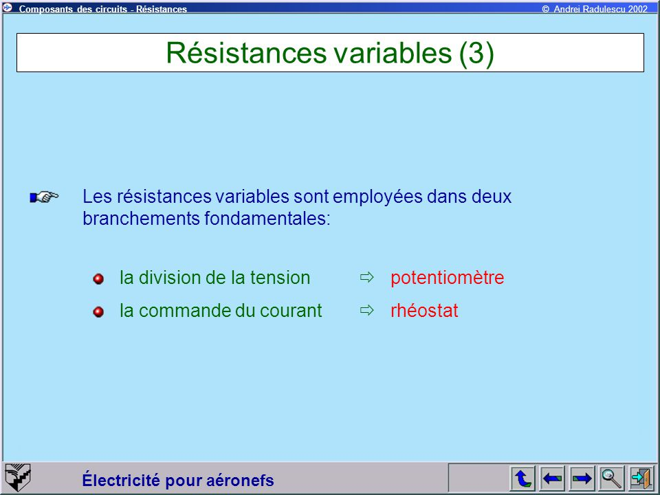 Résistances variables (3)
