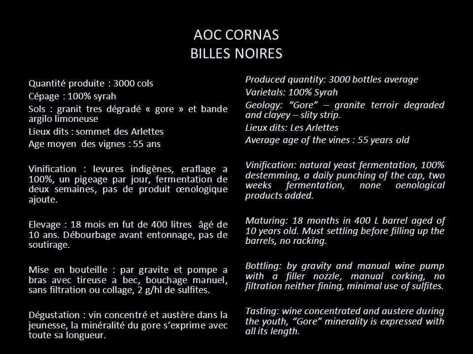 AOC CORNAS BILLES NOIRES