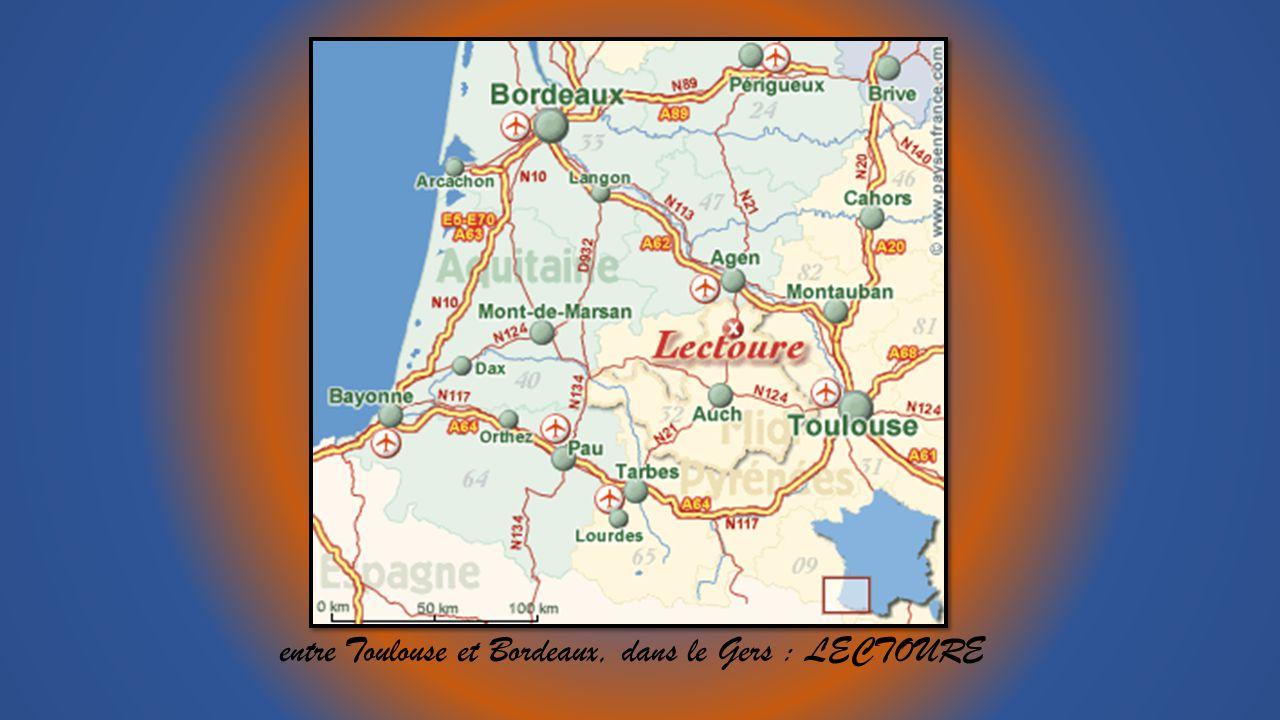 entre Toulouse et Bordeaux, dans le Gers : LECTOURE