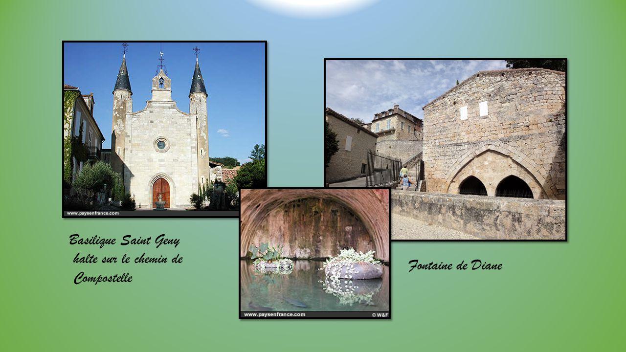 Basilique Saint Geny halte sur le chemin de Compostelle Fontaine de Diane