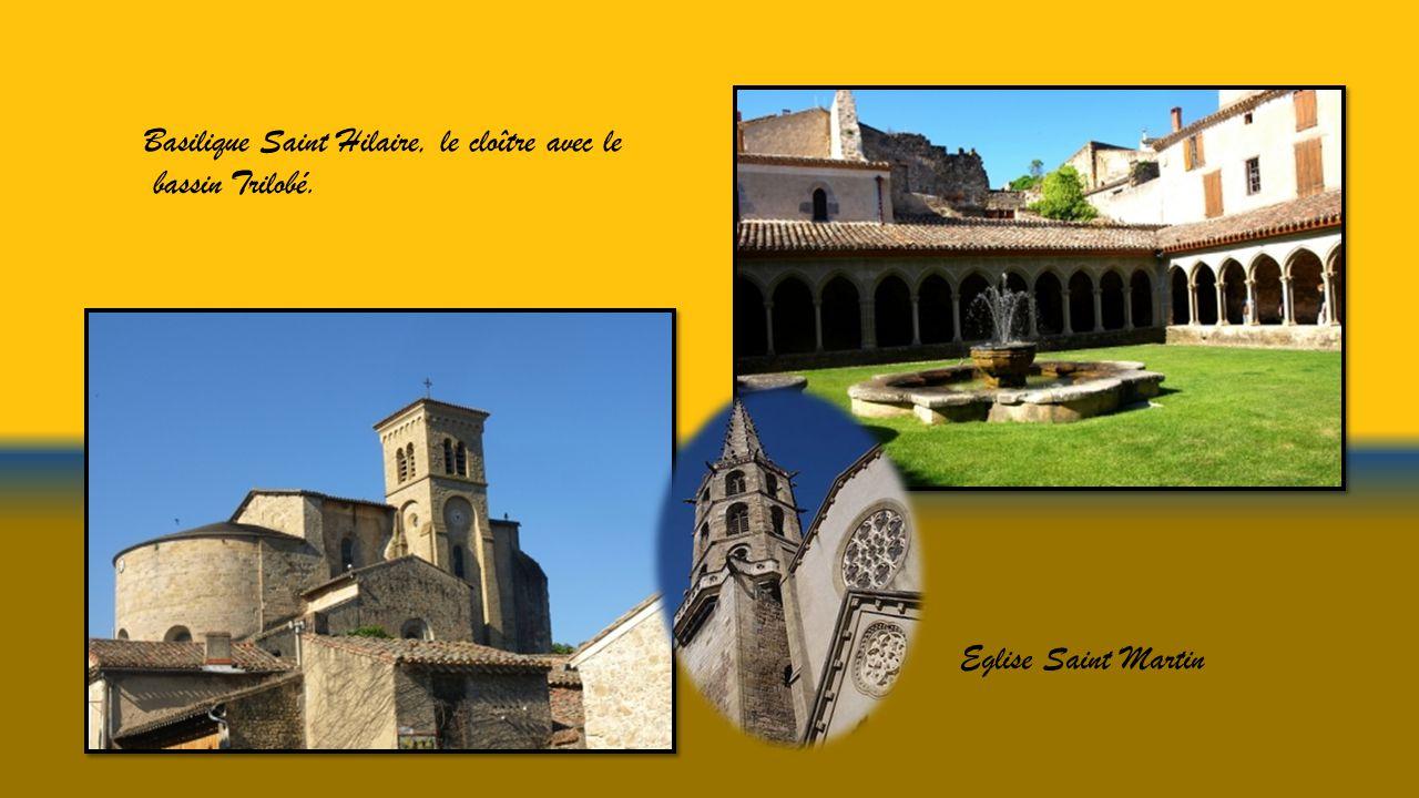 Basilique Saint Hilaire, le cloître avec le