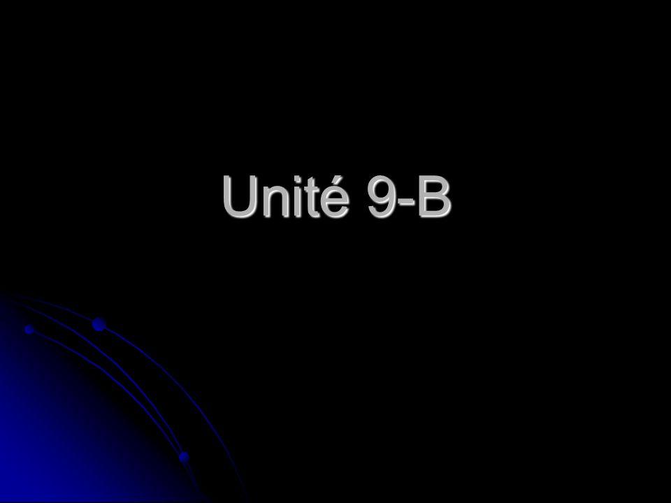Unité 9-B