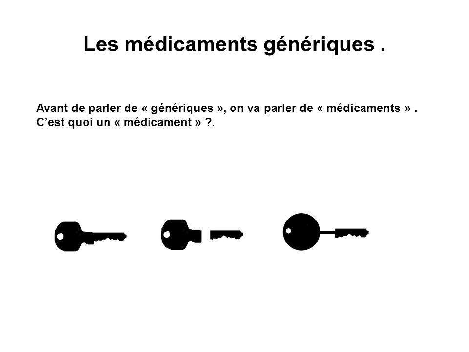 Les médicaments génériques .
