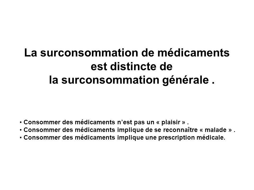 La surconsommation de médicaments est distincte de la surconsommation générale .
