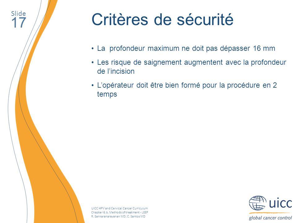 Critères de sécurité 17 Slide