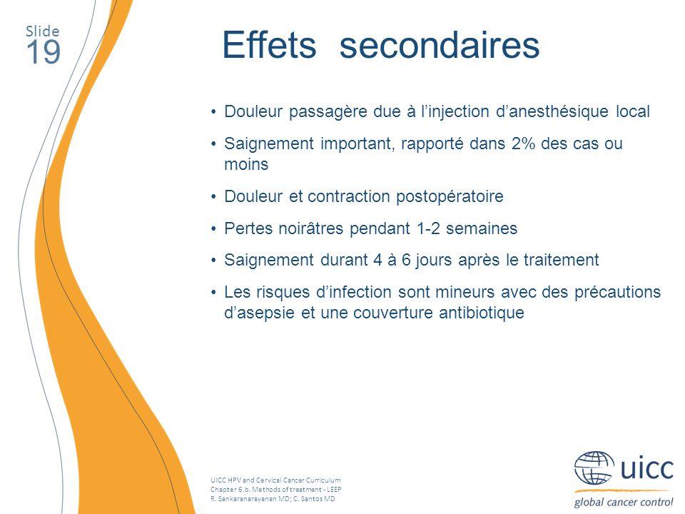 Effets secondaires 19 Slide