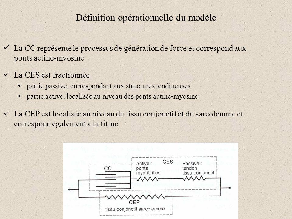 Définition opérationnelle du modèle