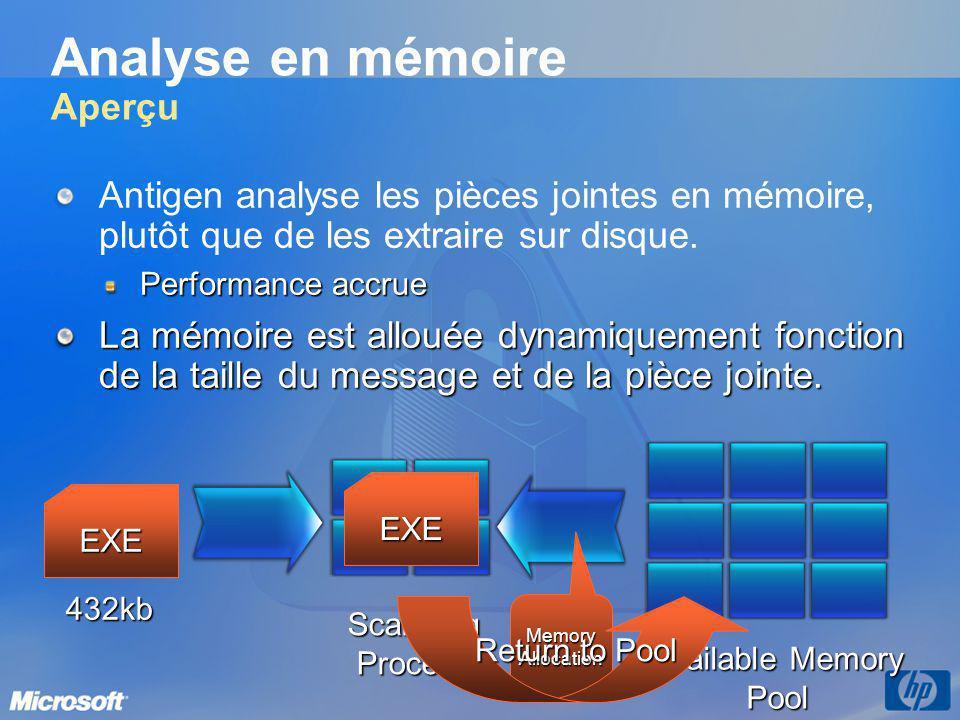 Analyse en mémoire Aperçu