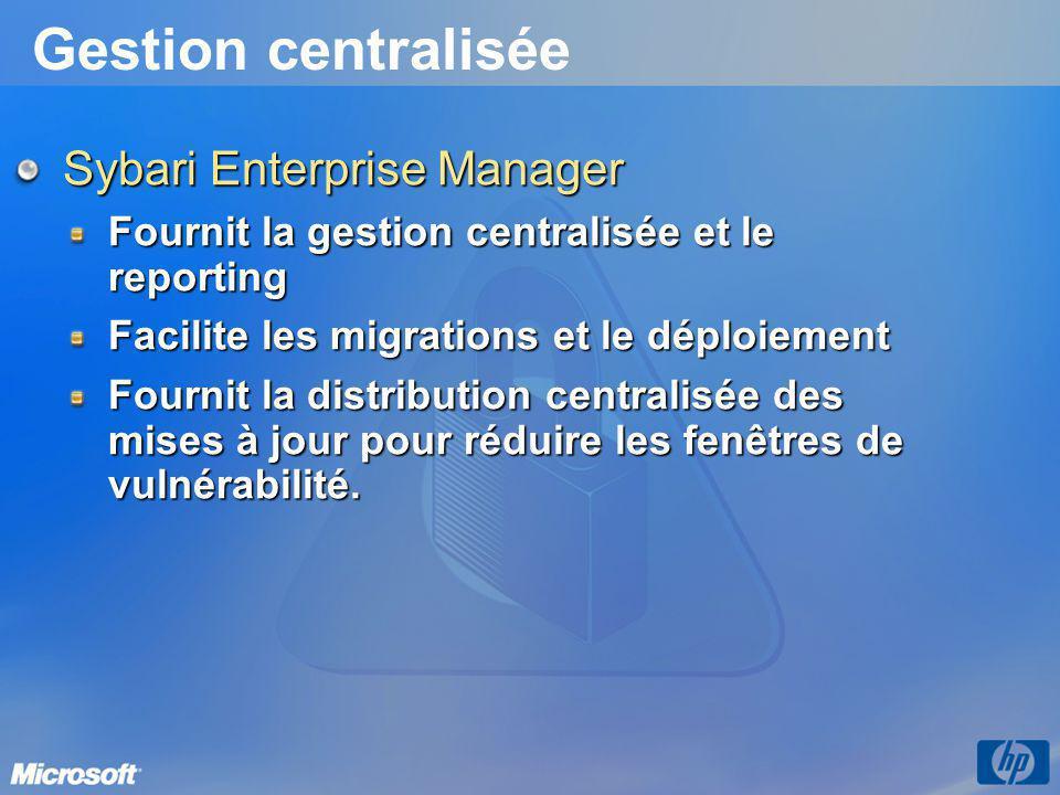 Gestion centralisée Sybari Enterprise Manager