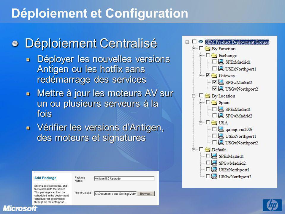 Déploiement et Configuration
