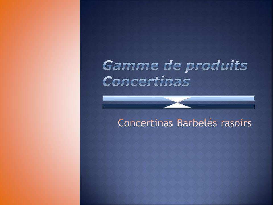 Gamme de produits Concertinas