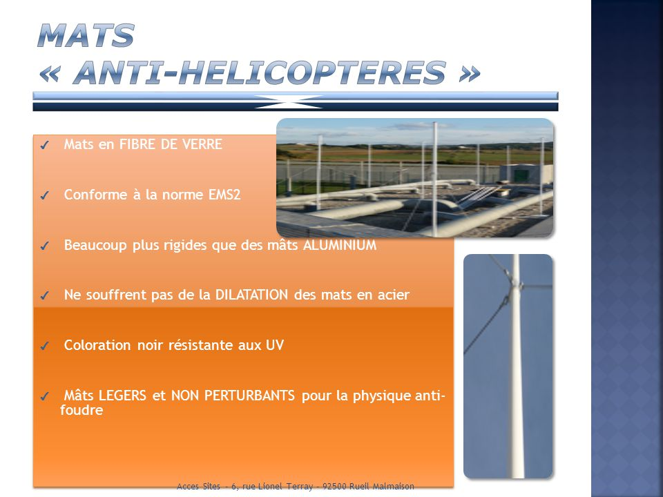 MATS « ANTI-HELICOPTERES »