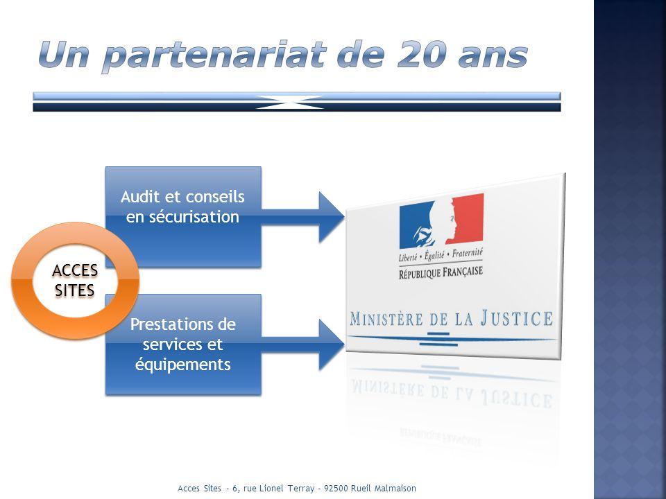 Un partenariat de 20 ans Audit et conseils en sécurisation ACCES SITES