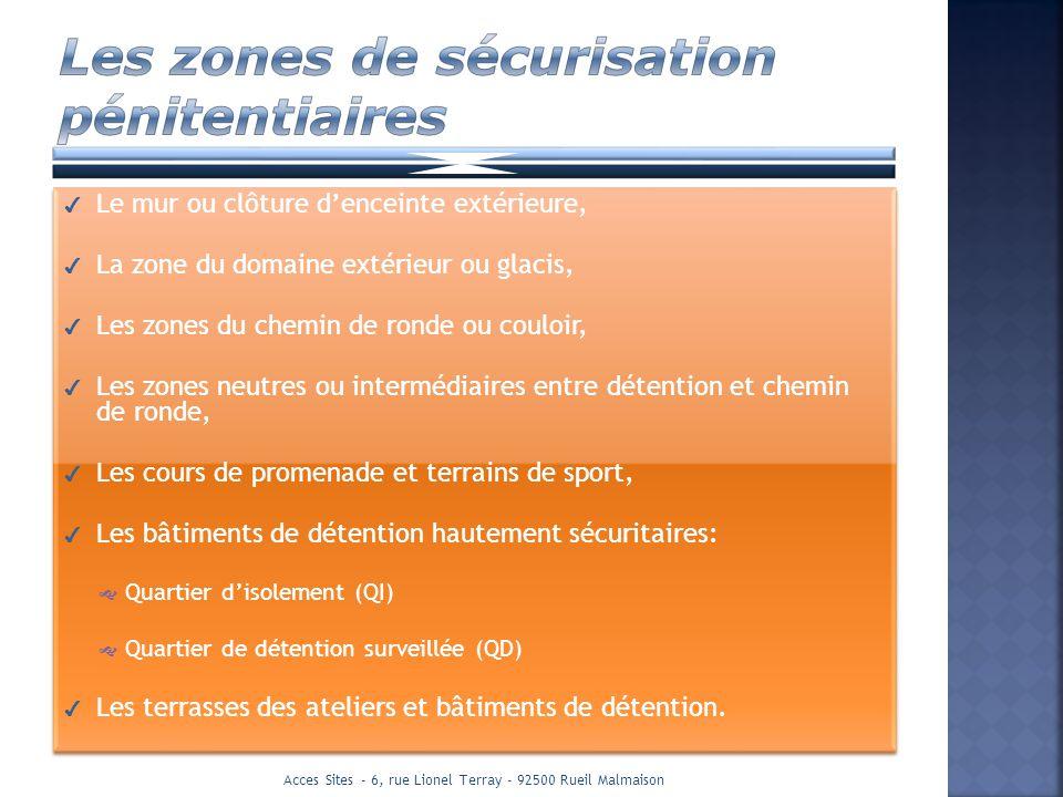 Les zones de sécurisation pénitentiaires