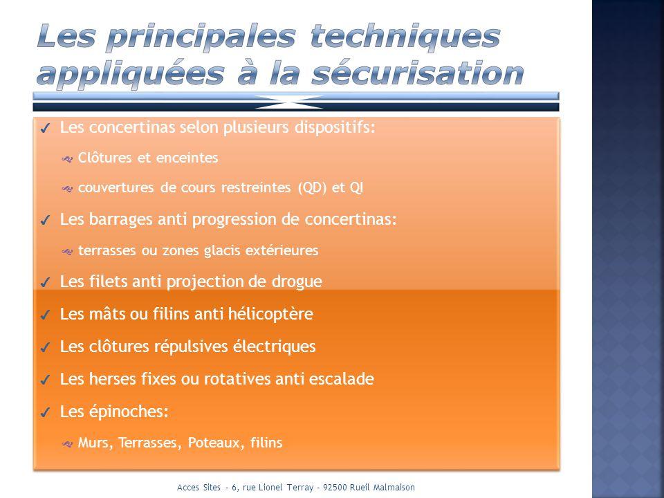 Les principales techniques appliquées à la sécurisation