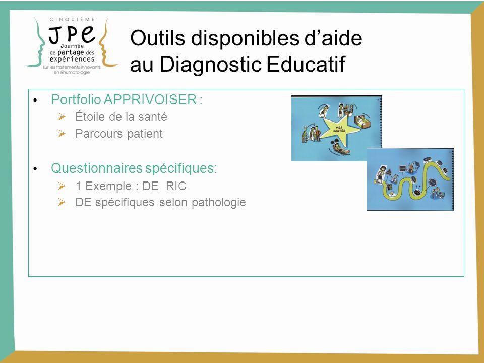 Outils disponibles d'aide au Diagnostic Educatif