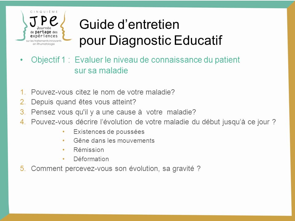 pour Diagnostic Educatif