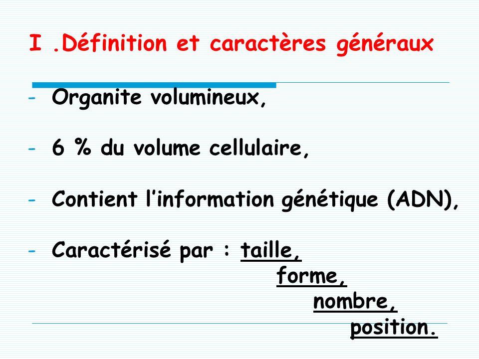 I .Définition et caractères généraux