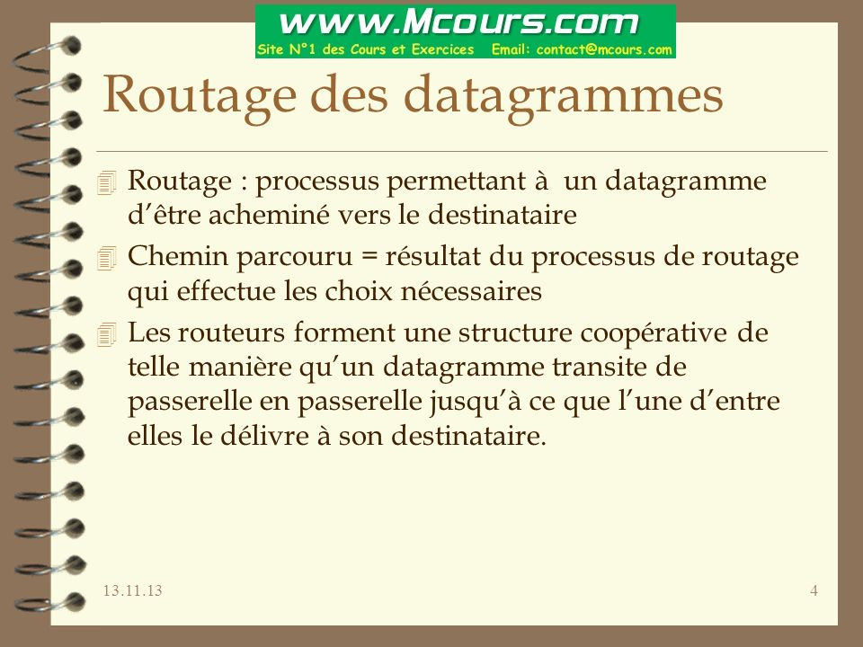 Routage des datagrammes