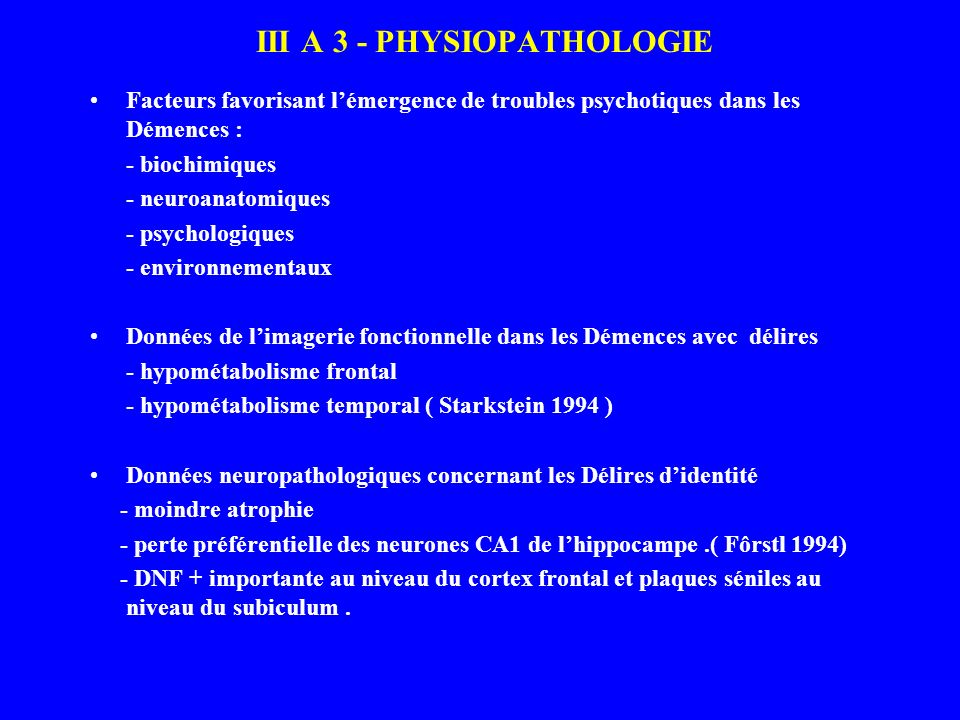 III A 3 - PHYSIOPATHOLOGIE