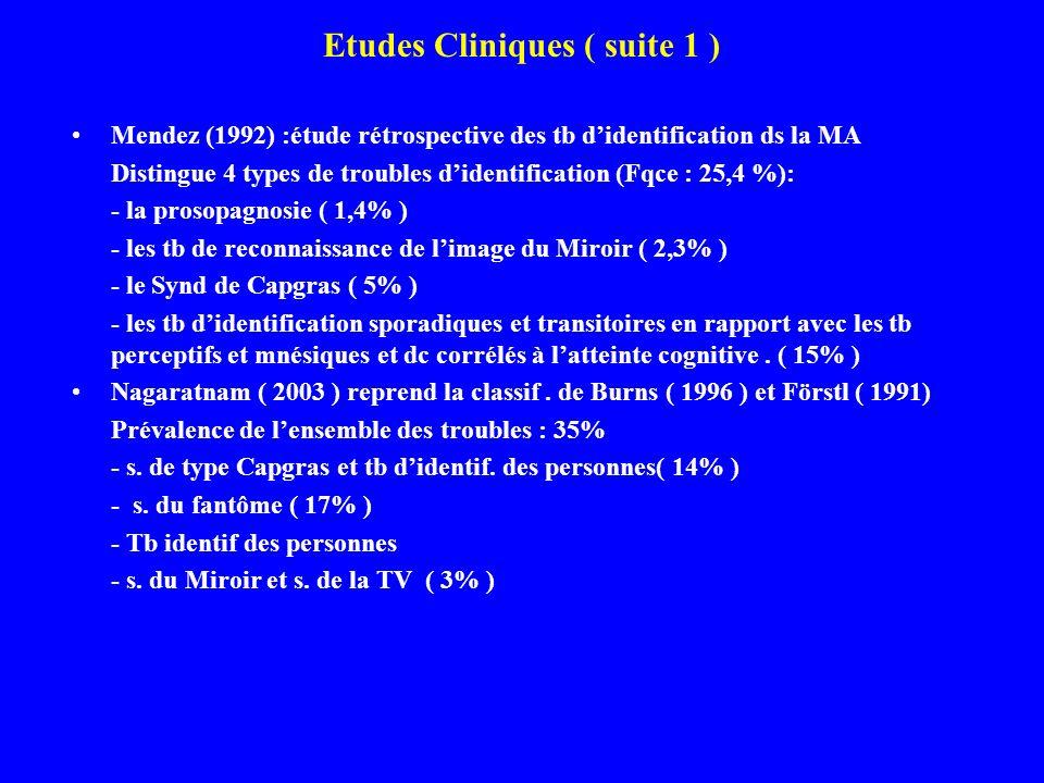 Etudes Cliniques ( suite 1 )