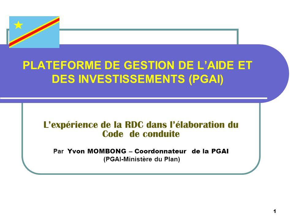 PLATEFORME DE GESTION DE L'AIDE ET DES INVESTISSEMENTS (PGAI)