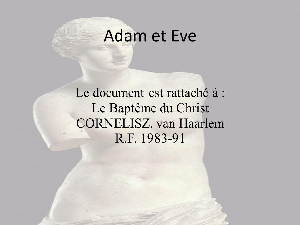 Adam et Eve Le document est rattaché à : Le Baptême du Christ CORNELISZ. van Haarlem R.F. 1983-91