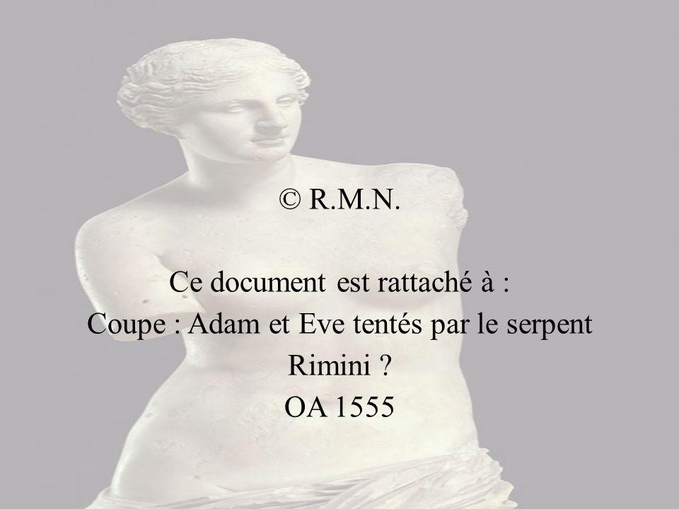 Ce document est rattaché à : Coupe : Adam et Eve tentés par le serpent