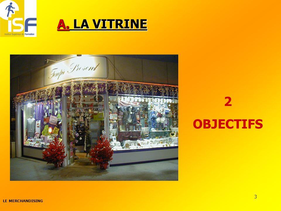 A. LA VITRINE 2 OBJECTIFS LE MERCHANDISING