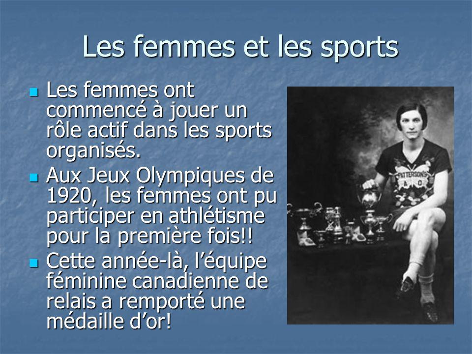 Les femmes et les sports