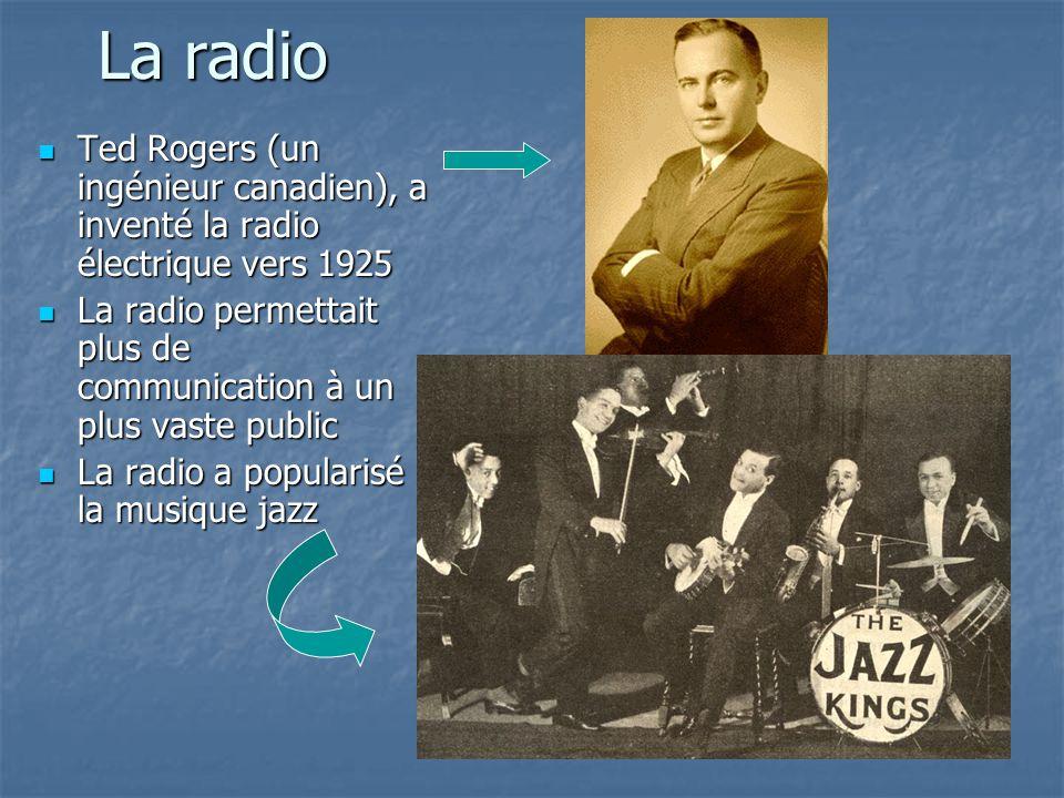 La radio Ted Rogers (un ingénieur canadien), a inventé la radio électrique vers 1925.
