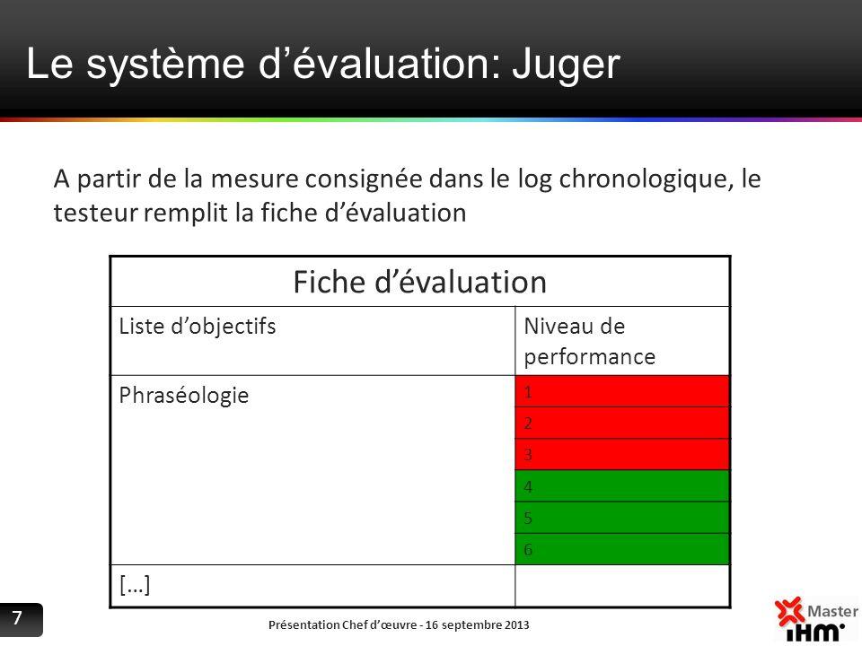 Le système d'évaluation: Juger