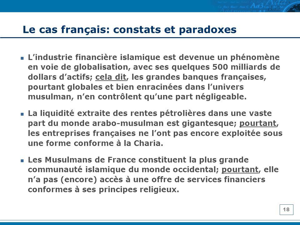 Le cas français: constats et paradoxes