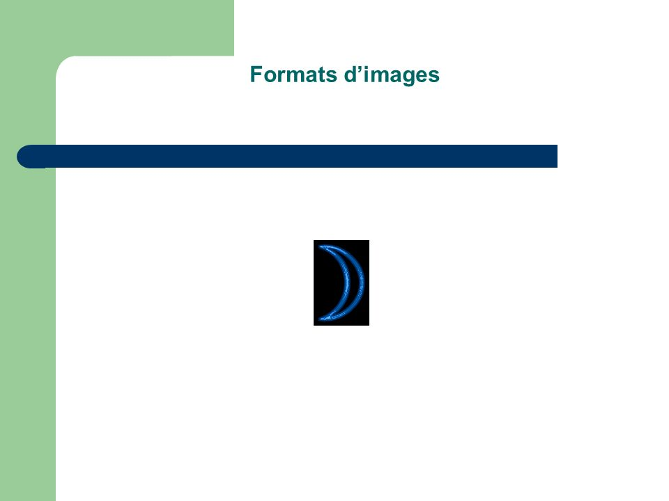 Formats d'images