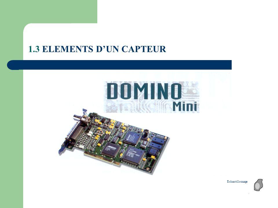 1.3 ELEMENTS D'UN CAPTEUR Echantillonnage