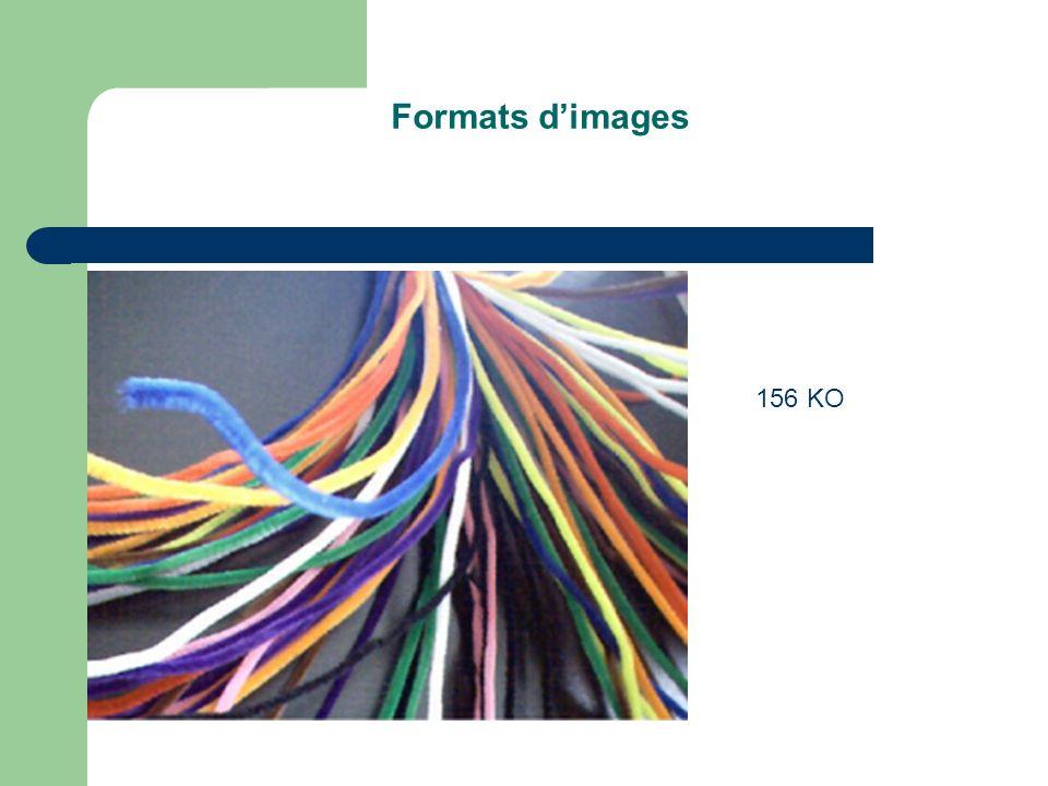 Formats d'images 156 KO