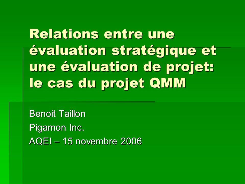 Benoit Taillon Pigamon Inc. AQEI – 15 novembre 2006
