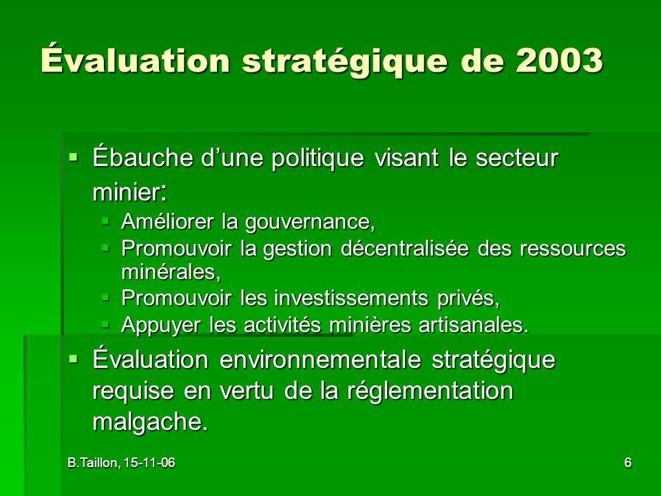 Évaluation stratégique de 2003
