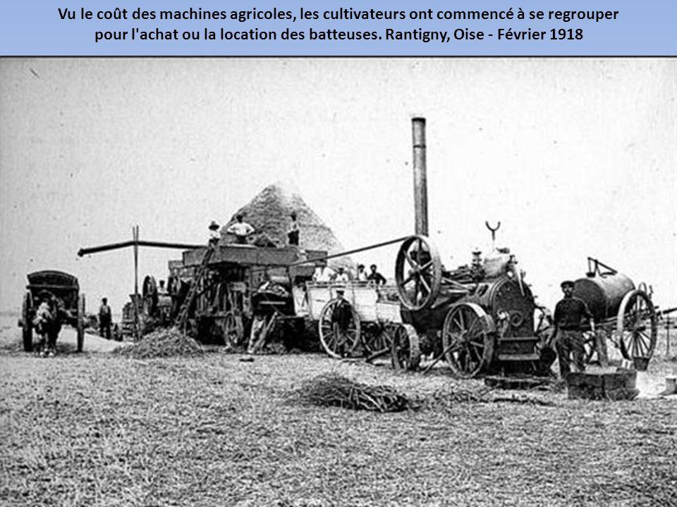 Vu le coût des machines agricoles, les cultivateurs ont commencé à se regrouper