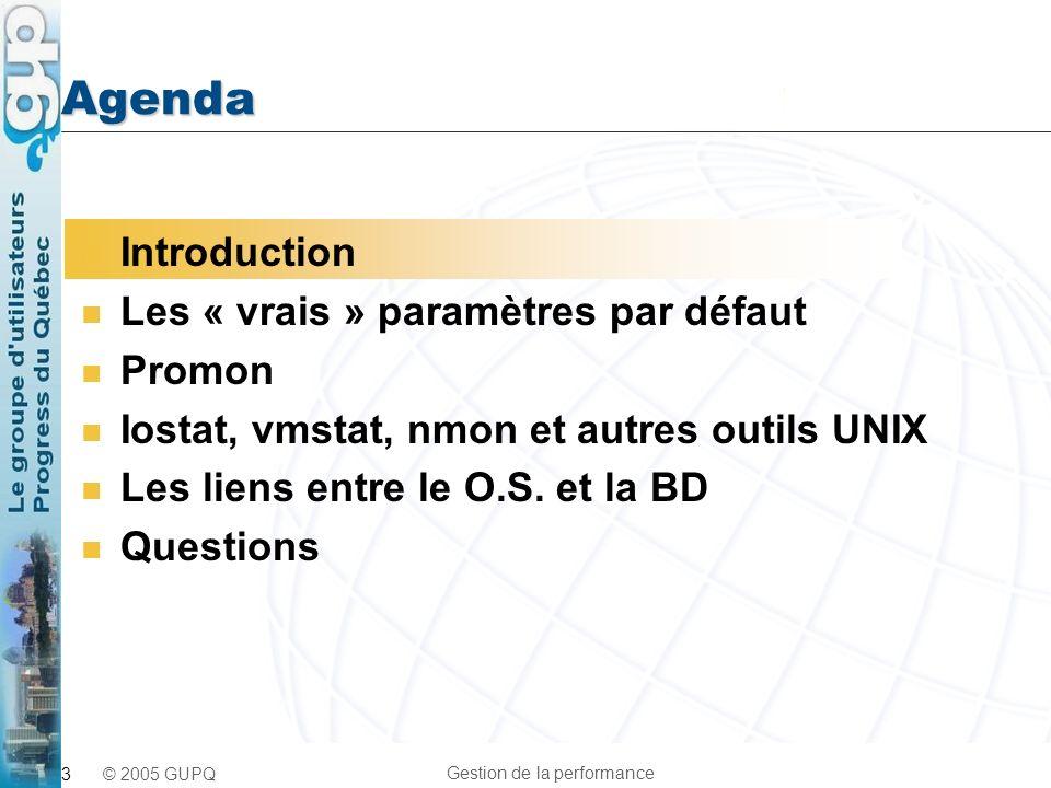 Agenda Introduction Les « vrais » paramètres par défaut Promon