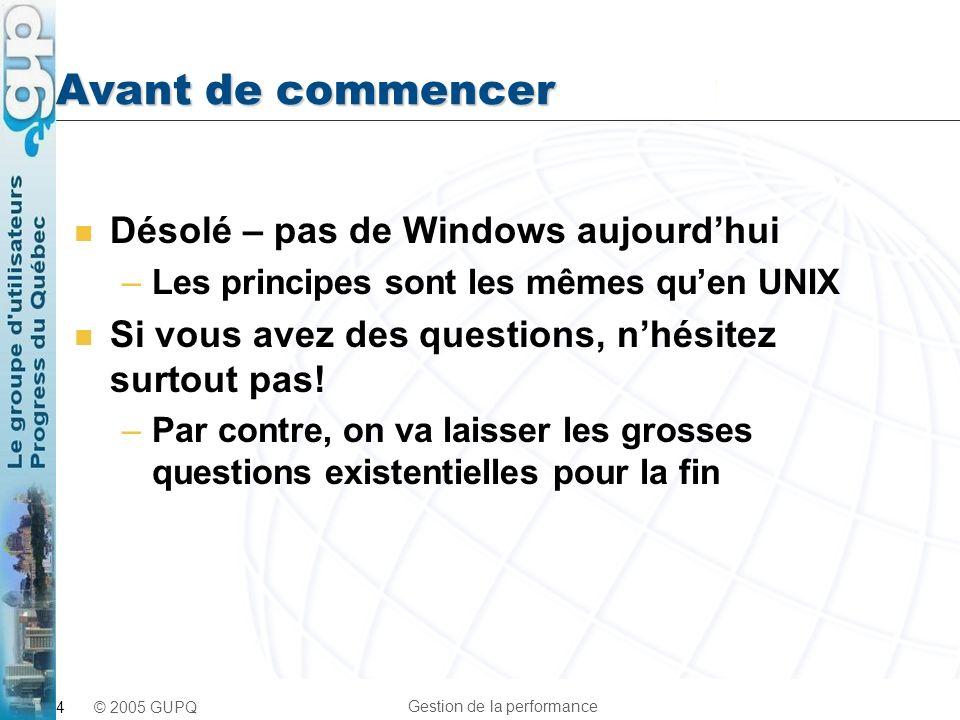Avant de commencer Désolé – pas de Windows aujourd'hui