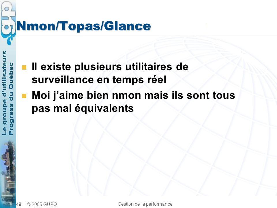 Nmon/Topas/Glance Il existe plusieurs utilitaires de surveillance en temps réel.