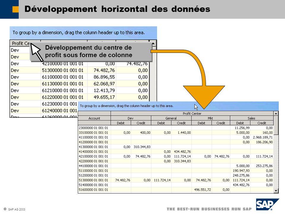 Développement horizontal des données