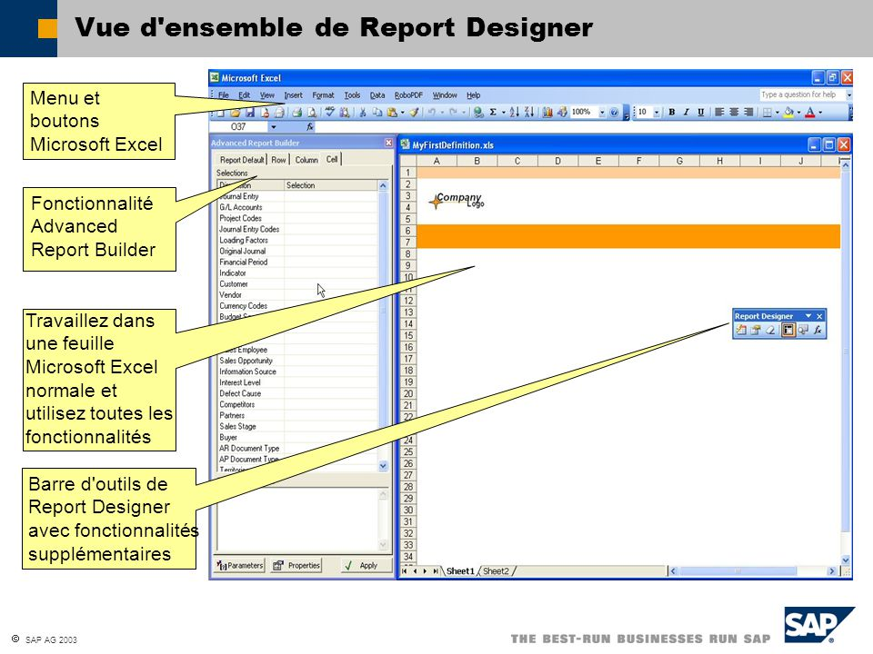 Vue d ensemble de Report Designer