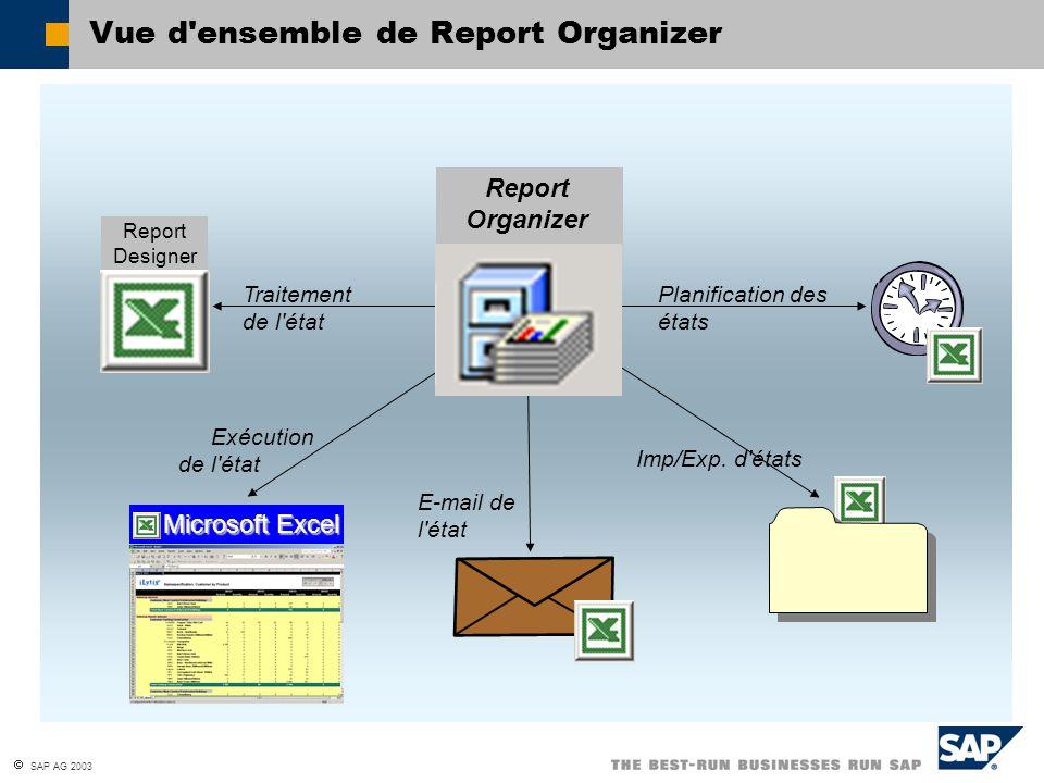 Vue d ensemble de Report Organizer